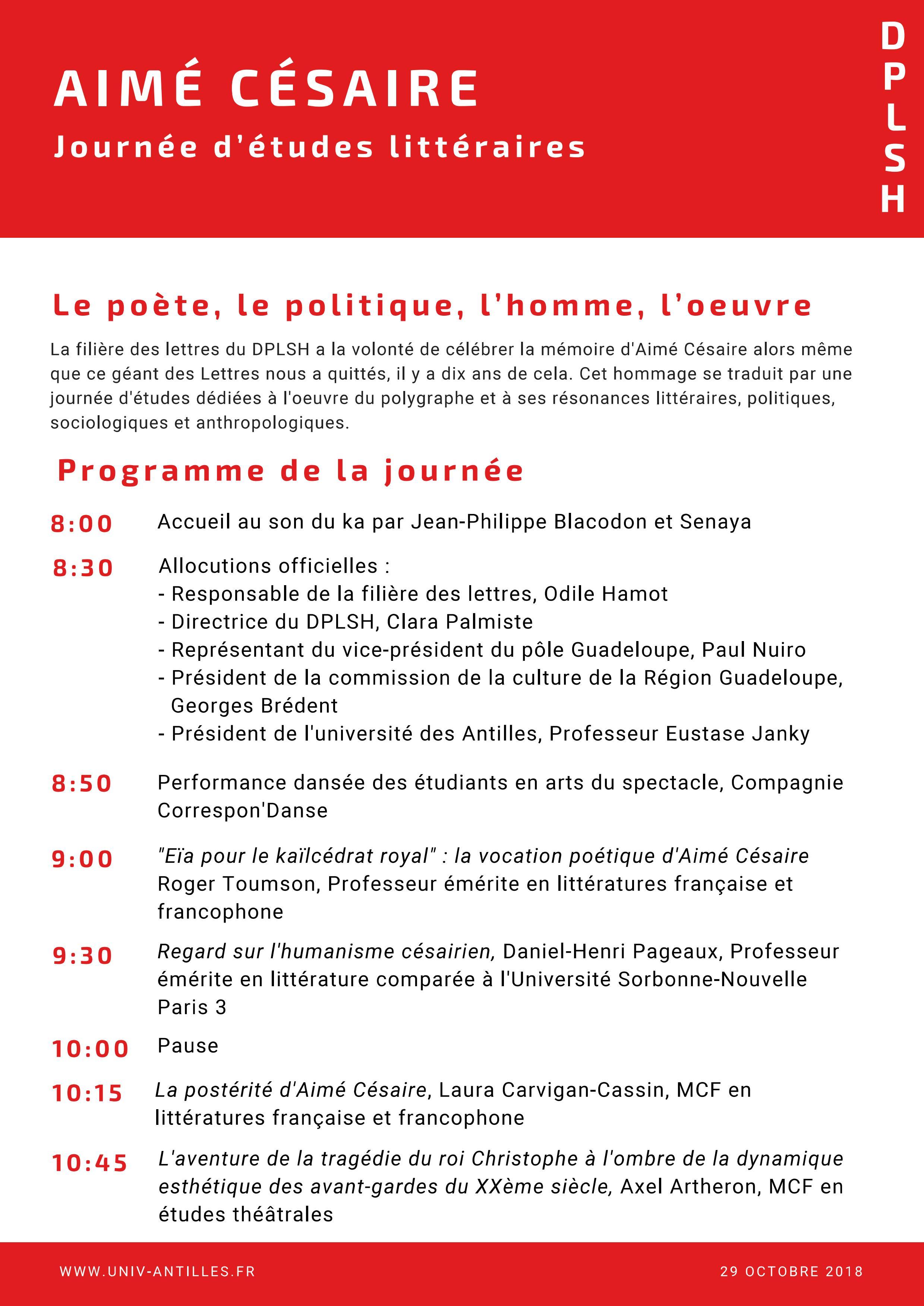 Aimé Césaire Le Poète Le Politique Lhomme L Oeuvre